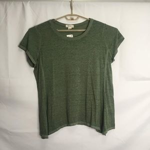 Style & Co Green Crew Neck Short Sleeve Top